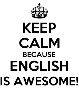 keep calm english is awesome
